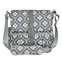 JJ Cole Gray Backpack Diaper Bag