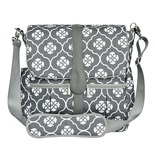 JJ Cole Gray Backpack Diaper Bag