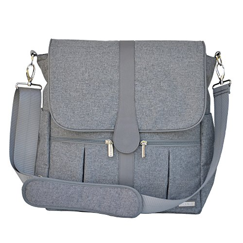 JJ Cole Gray Heather Backpack Diaper Bag Review