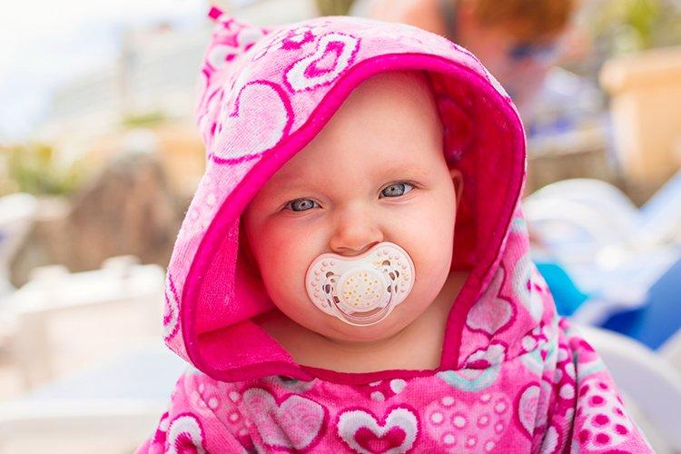 Baby in Hooded Beach Towel